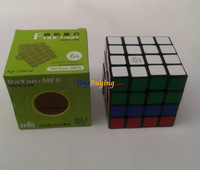 10pcs/lot 66MM Dayan MF8  4x4 II Speed Cube Big MF8 4x4x4 V2 Black Twist puzzle Educational toy kids Gift idea free shipping