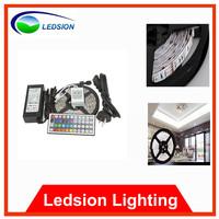 Free shipping 5050 RGB LED Strip Flexible Light 5M 300 Led SMD 44 Keys IR Remote Controller 12V 6A EU/AU Power Adapter 120Degree