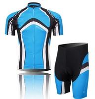 Hot sale 2014 Fashion Mens Short Sleeve Biking Riding Bicycle Rider cycling wear clothing jersey + bid shorts Wholesale CJ017