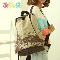 canvas backpack women vintage bag college shoulder bags travel bag backpack