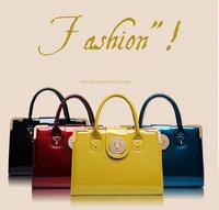 2014 Fashion Spring Women's Handbags Women's Patent Leather Handbag Shing Diamond Elegant Female's Leather Shoulder Bags