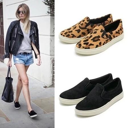 Créateur de la marque femmes chaussures de sport chaussures de toile imprimé léopard chaussures femmes chaussures plates nouvelle maternité confortables, 2014 zapatos mujer