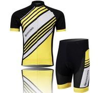 Any One To Choose 2014 New men women Yellow Pro Cycling bicycle road bike short sleeves wear jersey + bid shorts Wholesale CJ019