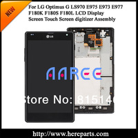 New Original for  LG Optimus G LS970 E975 E973 E977 LCD Display with Touch Screen Digitizer  Assembly Frame Black  Free shipping