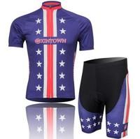 New bicycle clothing set! 2014 men Cycling Jersey Short Sleeve bike bib Shorts Wholesale CJ022