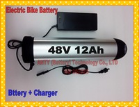 Fedex Free Ship 48V 12Ah 550W Electric Bicycle Battery Lithium ion Battery with Charger,BMS Electric Bike Rechargeable Battery