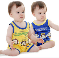 Retail The New Hot Boys And Girls Monkey Vest Suit Vest + Shorts
