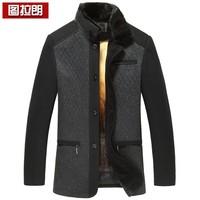 Wool wool coat male marten overcoat gold liner male nick coat medium-long trench