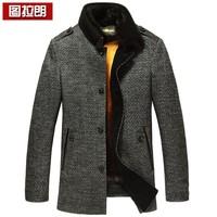 Wool wool coat male marten overcoat gold mink liner male nick coat medium-long