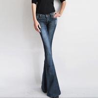 2014 slim denim big boot cut jeans trousers speaker female wide leg pants