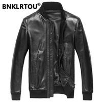 Leather clothing male genuine leather clothing male sheepskin leather jacket outerwear short slim design