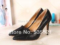 Women pumps summer black high heels brand famous luxury High Heels evening shoes classic designer genuine leather  2014