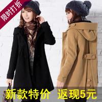 2014 spring women's woolen female woolen long outerwear casual outerwear slim long coat