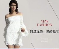 High Quality The new European and American Style sleeved lace fringed dress new fashion women summer dress  sexy club dress