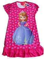 2014 New arrival dress baby girls summer cartoon Sofia short sleeve dress kids princess dress for 3-8T free shipping