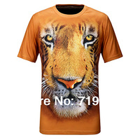 2014 Summer O-Neck 3D print men quick-dry  athletics t shirt Men Outdoor Short-sleeve T-shirt