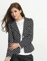 Blazers Women 2014 Spring Suit  foldable Black long Slim jacket women's outwear Suit  Plus size Womens Blazers Free Shipping