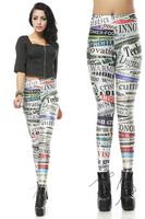 2014 brand new textile digital letter printing leggings hot patchwork color block legging fashion women's galaxy pants