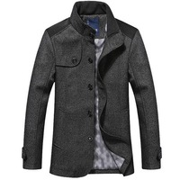 Spring woolen male jacket HEILANHOME men's clothing medium-long slim outerwear stand collar thick top