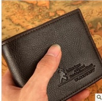 Horizontal men's wallet male short wallet male short design the trend of male wallet purse  Free shipping