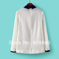 2014 new spring women Chest embroidery shirt printing shirts free shipping
