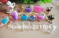 FREE SHIP! Mixed  Bubble Liquid Rings,glass bubble rings,Glass Globe Bottle Rings,glass globe rings DIY