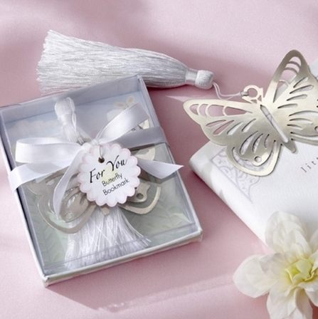 60PCS Wedding gifts for guests Silver Metal Butterfly Wedding Gift Favor Bookmark DROPSHIPPING(China (Mainland))