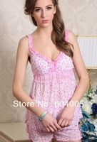 Free Shipping Small Flowers Sexy Pajamas