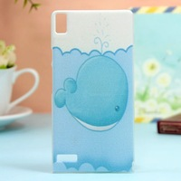 Huawei Ascend P6 case huawei p6 case cover 20 species pattern transparent side case Free shipping