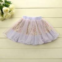 Sweet beauty's flowers skirt baby irregular gauze skirt  for baby girl