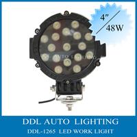 """6.5"""" 51W 10-30V DC 3500LM LED Work light Off"""