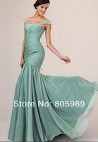 Free shipping best selling custom-made any color Fashion Chiffon and Satin  Sleeveless  Evening dress SH0587