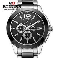 2014 New Swiss Brand Winner Automatic Mechanical Wristwatch Self Wind Man Dress Casual Steel Ceramic Big B Watch Auto Date