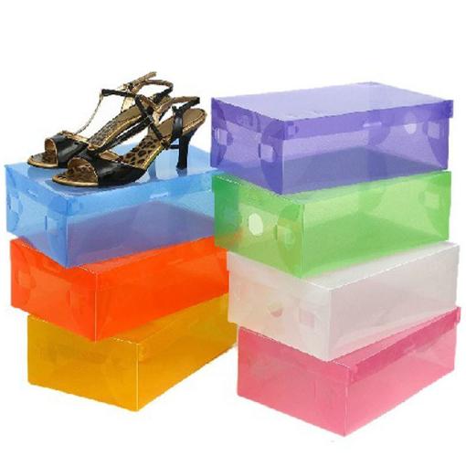 OTS063 , Criança Transparente / Lady / Man empilhável Limpar os sapatos de plástico caixas de armazenamento Caixa Organizer, Caixas de sapato gaveta de armazenamento(China (Mainland))