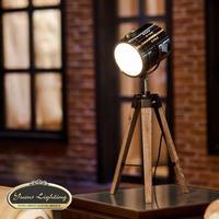 1x PARIS RETRO Royal Air Force Wood tripod Table Search Light Lantern,Bronze,YSL-0185B,Free Shipping