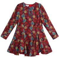 2014 spring one-piece dress monsoon female child print big flower eight one-piece dress 2 - 12Y