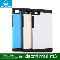 Free shipping Newest Rock Shield Series TPU Protective Back Cover Case For Xiaomi Miui3 Mi3 with retail package + free gift