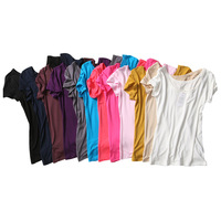 candy color female Modal cotton all-match solid color small vest o-neck short-sleeve women's basic shirt YD001