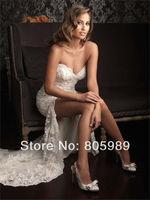 Free shipping best selling custom-made white&ivory  Fashion Organza and Tulle Sleeveless  Wedding Dresses SH0592