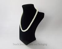 2014 Latest Style Wooden Jewelry Props Necklace Pendant Display Bust Stand Holder Black Velvet Mannequine Portrait Shelf Rack