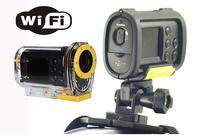 2014 newest Full HD 1080P Wifi sport camera action camera 170 degree wide angle camcorder mini DV 30M waterproof wifi camera