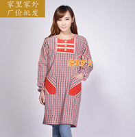Long-sleeve aprons fashion long-sleeve aprons gowns, 100% cotton