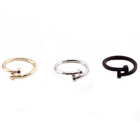 Wholesale Jewelery 2014 New Fashion Punk Spike carter Nail Ring For Women (R047)