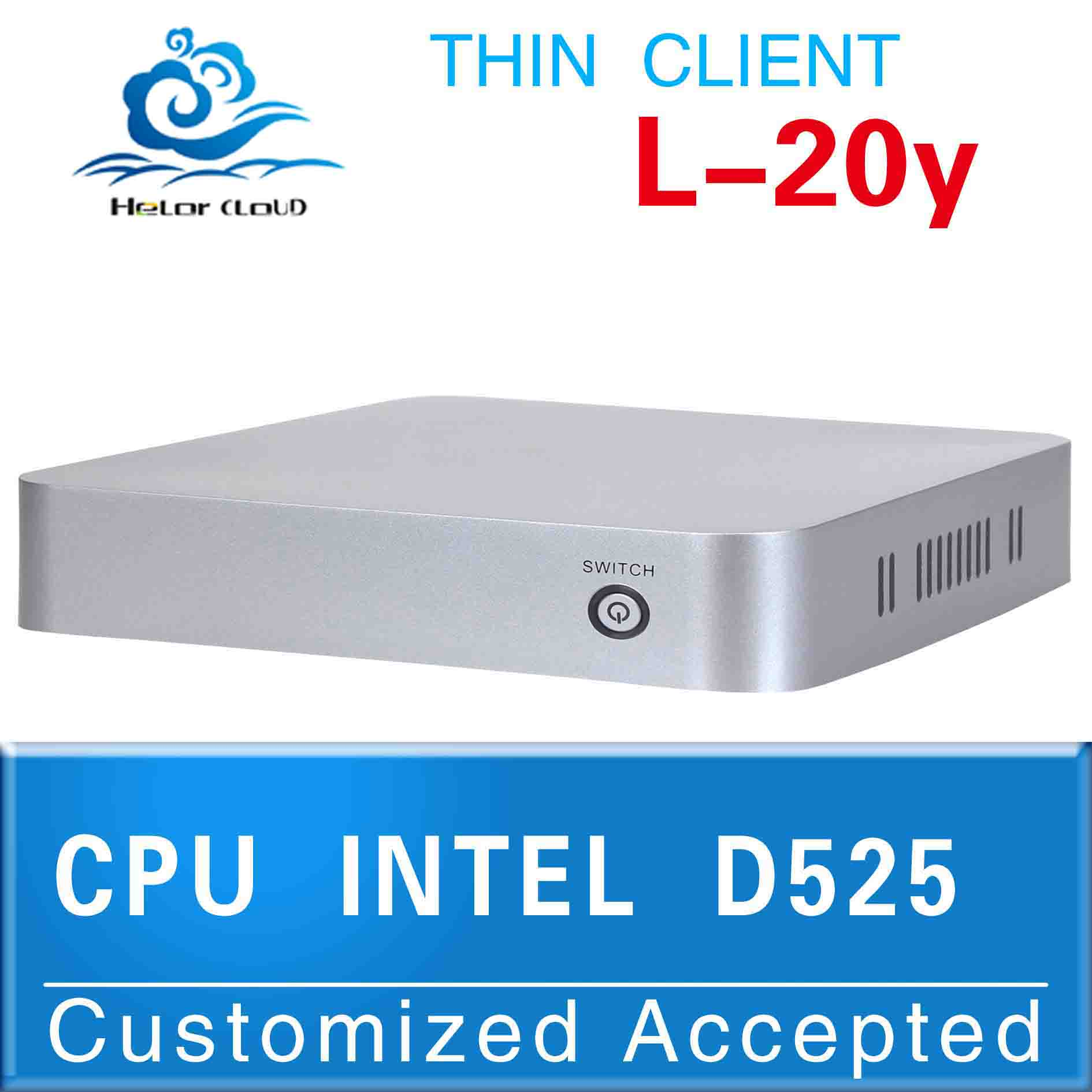 High performance! mini linux computers Intel Atom D525(1.8GHZ Frequency)mini htpc support MIC(China (Mainland))