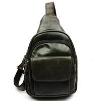 2014 New High Quality Vintage Retro Casual Genuine Leather Cowhide Men Messenger Bag Shoulder Bag Chest Bag Bags For Men 8397