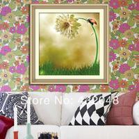 Flower print 3d cross stitch flower paintings cross stitch