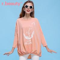 R . beauty spring 2014 women's loose batwing sleeve print pullover sweatshirt r14a2534