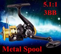 Metal spool  3 ball bearing carp spinning fishing reel  pesca/abu garcia,daiwa/trulinoya/okuma fly reels  2014 hot sale!