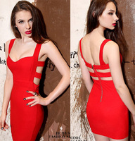 New 2014 Sweetheart Party Dress Sleeveless hot&sexy mini Dresses Backless Bodycon Dress Solid Bandage Dress Free shipping