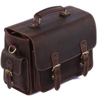 Vintage cowhide leather camera bag shoulder messenger bag for DSLR camera and lens TIDING1104